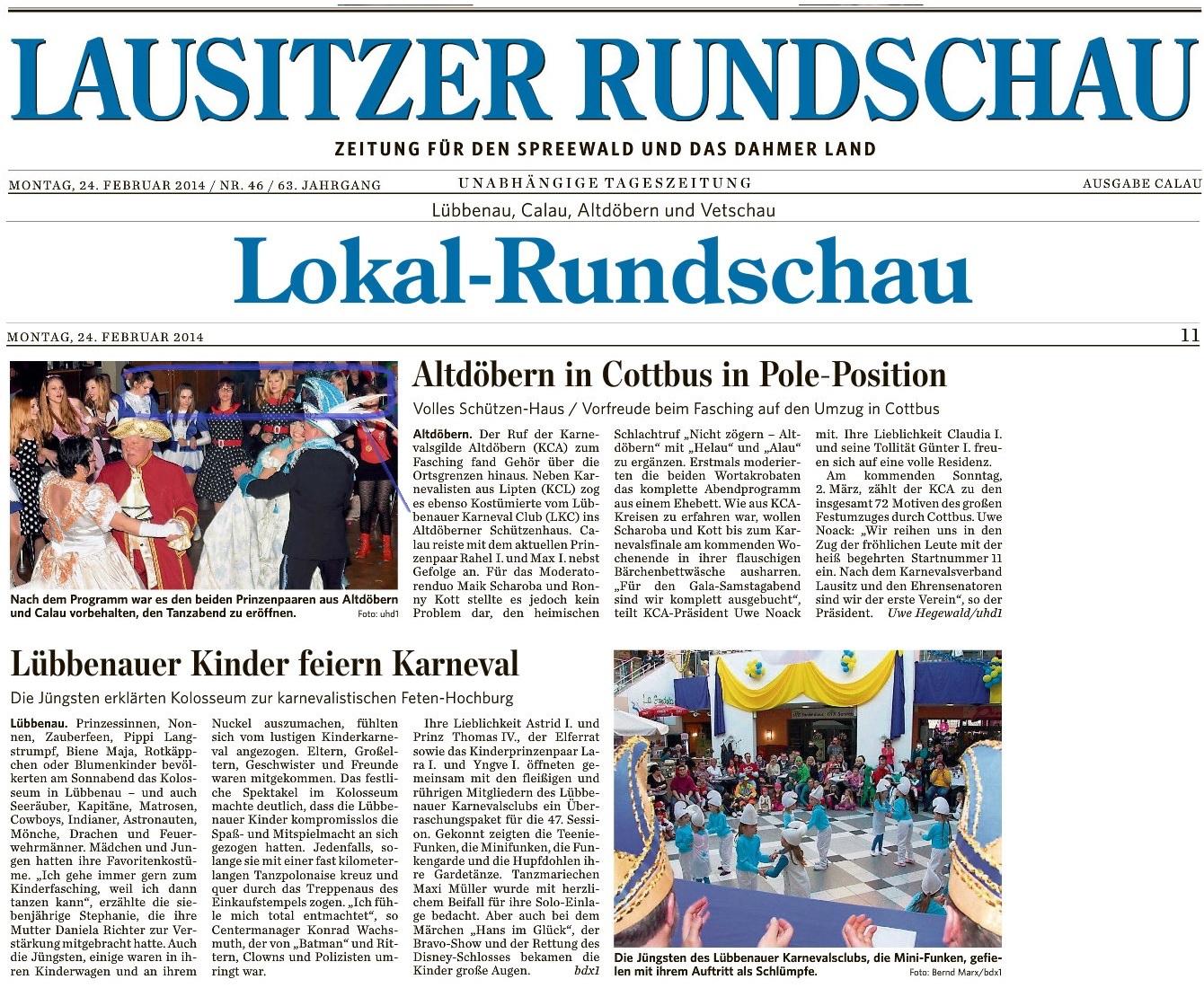 Lausitzer Rundschau Calau